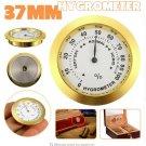 HUMIDOR CIGAR Hygrometer 37mm Moisture Meters  Tobacco Pointer Hygrometer for