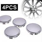 65mm  Car Wheel Center Hub Cap ABS Plastic Silver Wheel Center Cover