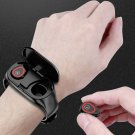 Smart Watch With Bluetooth 5  Earphone  Heart Rate Monitor Smart Wristband Long Time Standby Sport