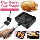Taiyaki Fish-Shaped Bakeware Waffle Pan Maker 2 Molds Cake Baking Tools