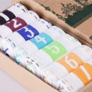 7 Days Of The Week Men socks 7 pairs WhiteNumbered 1 To 7 To Help You Stay Organized Or 7 Colors