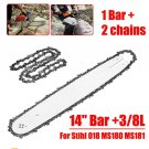 """4"""" Bar +3/8L 2pcs Chains Fit For Stihl 018 MS180 MS181 Chainsaws"""