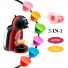 6 pcs  Reusable Rose Colorful Dolce Gusto Coffee Capsule for Dolci Nescafe