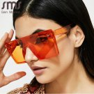 SMS Oversized Square Sunglasses Women Luxury Brand Fashion Flat TopOrange