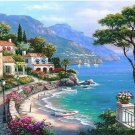 Quiet Mountain Homestay Landscape Canvas  Wedding Decoration Art DIY  Pa«int by numbers