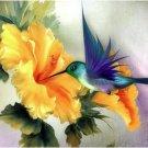 Bird Picking honey Bluebird Animal Canvas   Wedding Decoration Art DIY  Pa«int by numbers