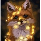 Glowing Fox Animal Canvas-  Wedding Decoration Art DIY  Pa«int by numbers