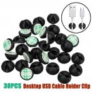 30pcs  Desk Wall USB Wire Cable Line Fastener Clip Clips Holders
