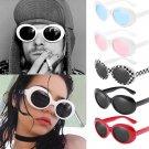 Unisex Sunglasses Rapper Oval Shades Grunge Glasses UV400