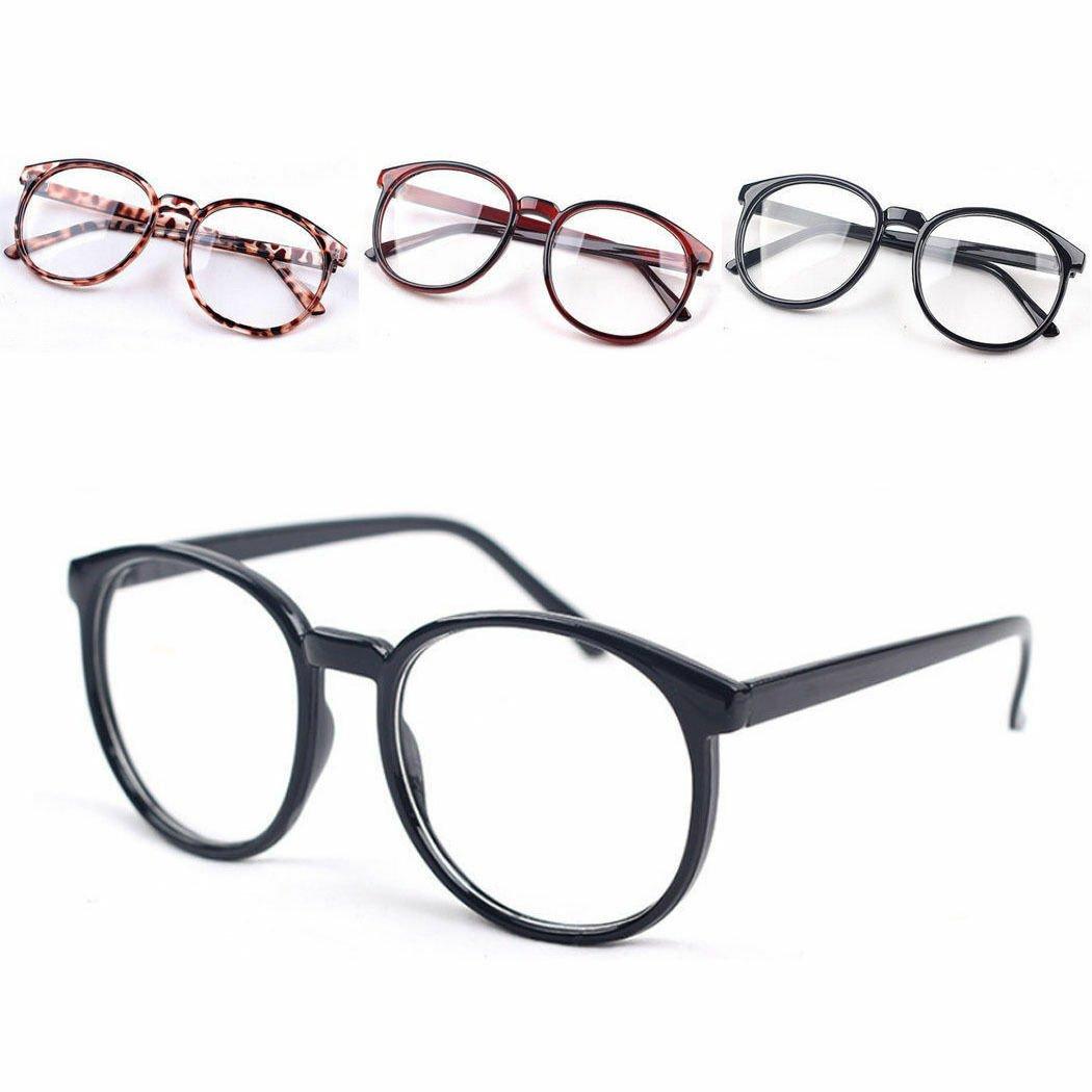 Fashion Retro Round Frame Men Women Vintage Clear Lens Glasses Eyeglasses
