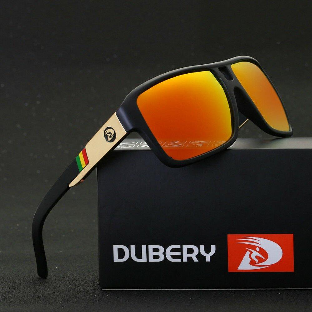 DUBERY Men's Polarized Sunglasses Outdoor Driving Mens Eyewear Sport Glasses