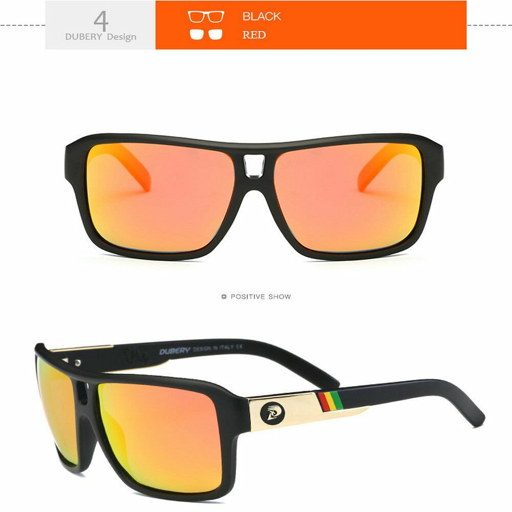 DUBERY Men Polarized Sport Sunglasses Outdoor Riding  Summer Goggles Style 7