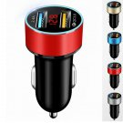 Dual USB Car Charger Adapter 3.1A Digital LED Voltage/