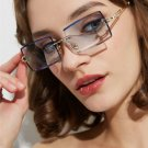 Luxury Brand   Ladies Sunglasses Women Rimless Square Polarized
