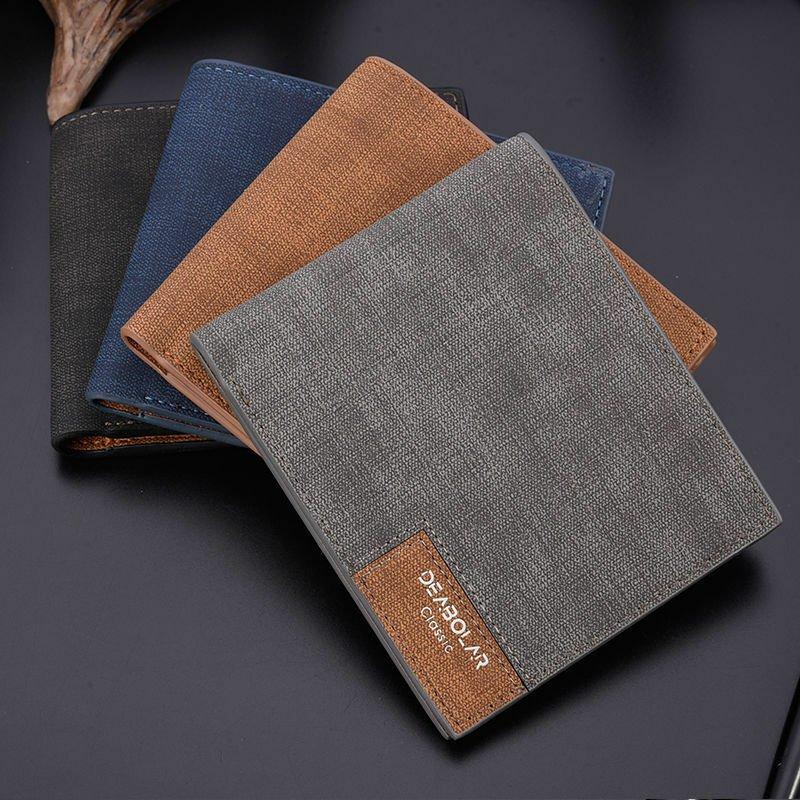 Mens Leather Slim Bifold Credit ID Card Holder Slim Wallet Billfold Purse Clutch