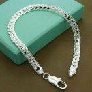 925 Solid Silver Bracelet Fashion Jewelry Women 5MM Snake Chain Bracelet