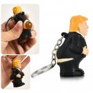Donald Trump poop keyring president squeeze funny key chain novelty fun Gift*1