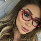 brand designer female spectacles frame eyeglasses clear cateye style red shades