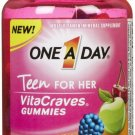 One A Day VitaCraves Teen for Her Gummy, 60 ct gummies