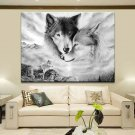 Modern Art Animal Wolf Canvas Painting Picture Print Home Wall Decor Unframed