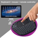 2.4GHz  Wireless Keyboard Backlight   Mouse Remote Control Touchpad Handheld For Android PC