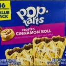 KELLOGGS POP TARTS FROSTED CINNAMON ROLL 27 OZ (768g)BOX 16 TOASTER PASTRIES