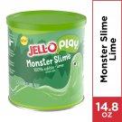 JELL-O PLAY MONSTER SLIME 100% EDIBLE LIME FLAVORED GELATIN MIX 14.8 OZ TIN