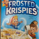 KELLOGGS FAMILY SIZE FROSTED KRISPIES CEREAL 20.2 OZ BOX SWEETENED TOASTED