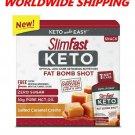 Slim Fast Keto Fat Bomb Shot Salted Caramel Creme 10 Ct 10 Fl OZ WORLD SHIPPING