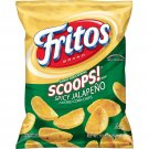 Fritos Scoops Spicy Jalapeno Flavored Corn Chips, 9.25 Oz. (1 Bag) US only