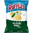 Ruffles Ridged Potato Chips, Jalapeno Ranch, 8.5 Ounce 2 Bag