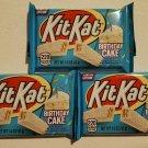 3 Kit Kat Birthday Cake Crisp Flavored Creme Wafers FREE WORLDWIDE SHIPPING