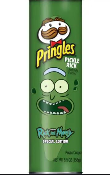 SPECIAL EDITION PRINGLES RICK AND MORTY PICKLE RICK POTATO CHIPS 5.5 OZ