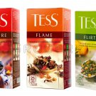 TESS Tea Variety Pack - 3 Boxes x 25 Teabag Enveloppes From europe