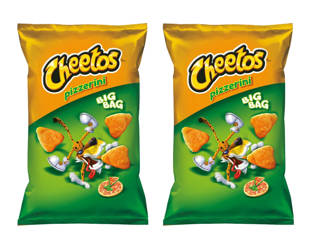 2 x CHEETOS PIZZERINI Pizza Flavor Chips 85g   Made in Poland From Europe