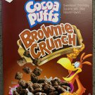 GENERAL Mills FAMILY SIZE COCOA PUFFS BROWNIE CRUNCH CEREAL 19.3 OZ (547g) BOX