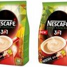 2 x NESCAFE Choco Hazelnut 3in1 Instant Coffee 10 Sticks Bag 160g    From Europe