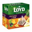 LOYD Pineapple & Pear Flavored Fruit Tea Boxed 20 Silk PyramidsFrom Europe