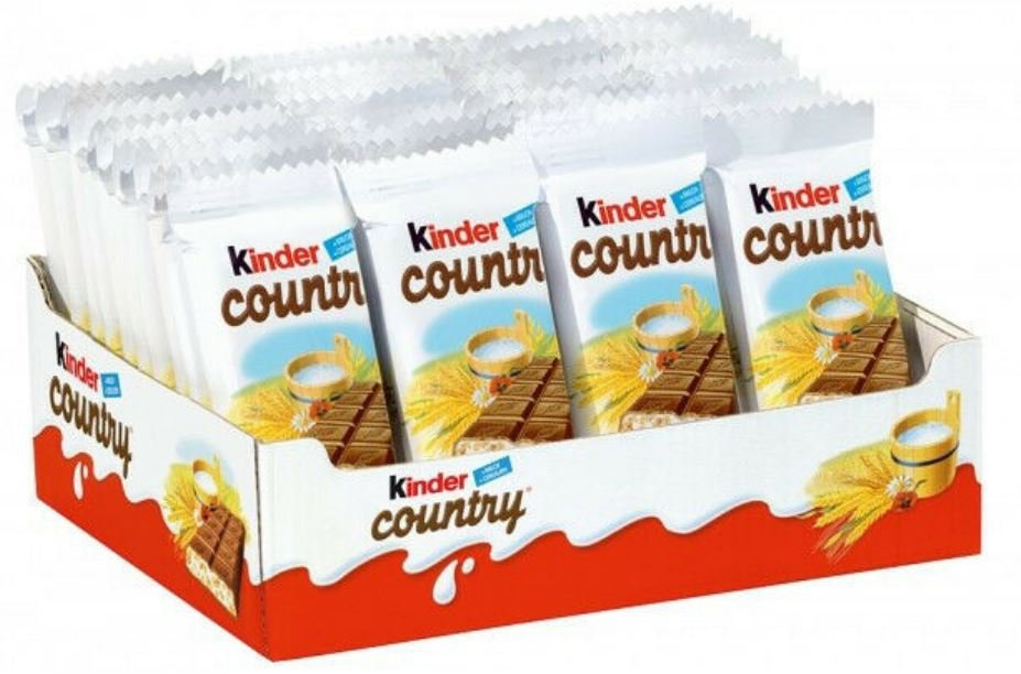 15 x KINDER COUNTRY Crunchy Chocolate Bars -From Europe