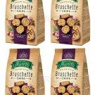 4 x BRUSCHETTE MARETTI Roasted Garlic Flavor Oven Baked Bread Bites Snacks 70g -From Europe
