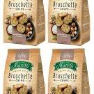 4 x BRUSCHETTE MARETTI Mushroom & Cream Flavor Oven Baked Bread Bites Snacks 70g  -From Europe