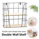 Storage Rack Organizer Shelf Space Saver  Side Wall Storage Hanging Holder Black Large