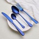 Color  (6 choices)  Cutlery Stainless Steel Cutlery Fork Spoon Knife Set Tableware Dinnerware Set