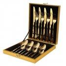 Cutlery Set 16 Pcs Stainless Steel Dinnerware Fork Spoon Color Cutlery Set