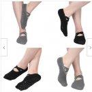 4 PAIRS Yoga Socks Women Non-Slip Grips &Straps For Pilates Pure Barre Ballet Dance
