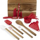 Christmas Gift Color Cooking  20 pc Set, cutting Board, Ustensils, Measuring cups