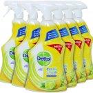 6 x  Mega size Dettol Multi Purpose Cleaner Clean and Fresh Sparkling Lemon and Lime Burst