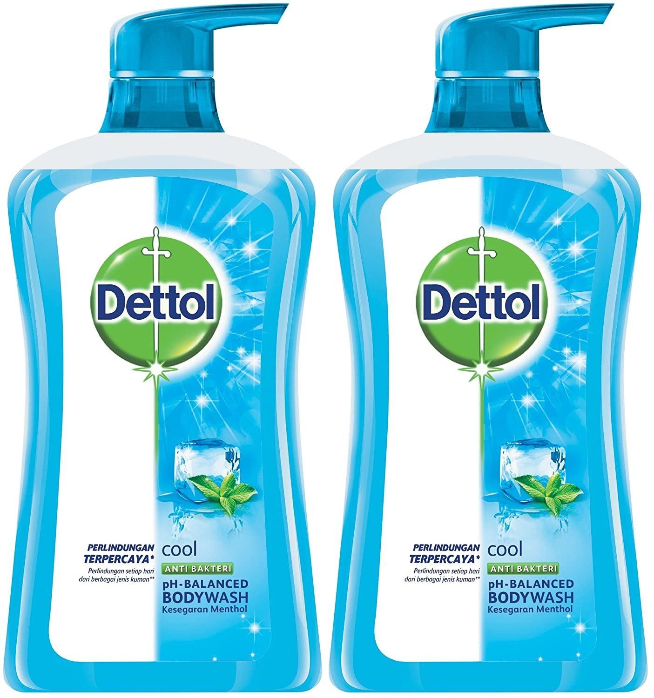 2 x  Dettol Anti Bacterial pH-Balanced Body Wash, Cool, 21.1 Oz/625 Ml (Pack of 2)