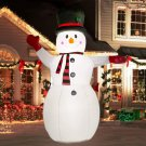 8 Ft Christmas Inflatables Greeting Snowman  Outdoor   with LED Lights for Yard Lawn Décor
