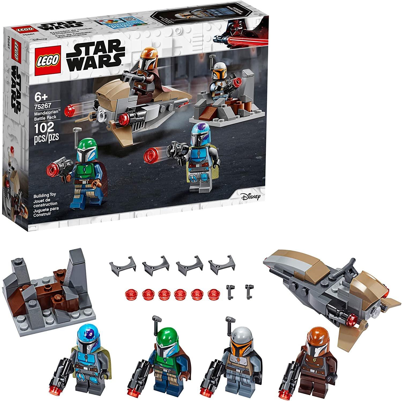 102 pc LEGO Star Wars Mandalorian Battle Pack 75267   Shock Troopers and Speeder Bike Building Kit
